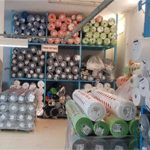 Stock de tissu dans une usine au Portugal