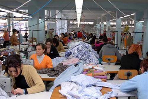 Usine de fabrication textile au Portugal