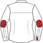 Chemise avec manches longues confectionnée sur-mesure pour une association