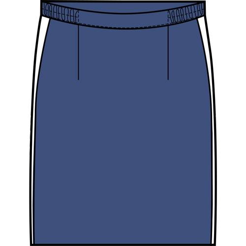 Jupe élastiquée bleue produite par Vestitex au Portugal