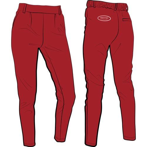 Pantalon sur-mesure avec le logo sous la forme d'une broderie