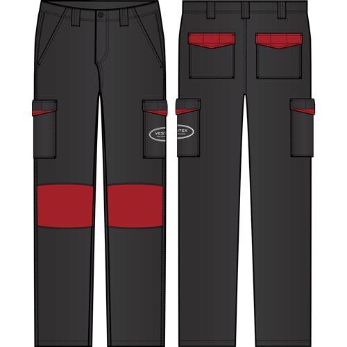 Pantalon de travail avec poches confectionné par un fournisseur textile en France